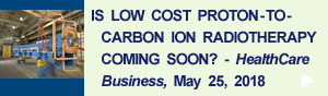 Is Low Cost Proton-to-Carbon Ion Radiotherapy Coming Soon?